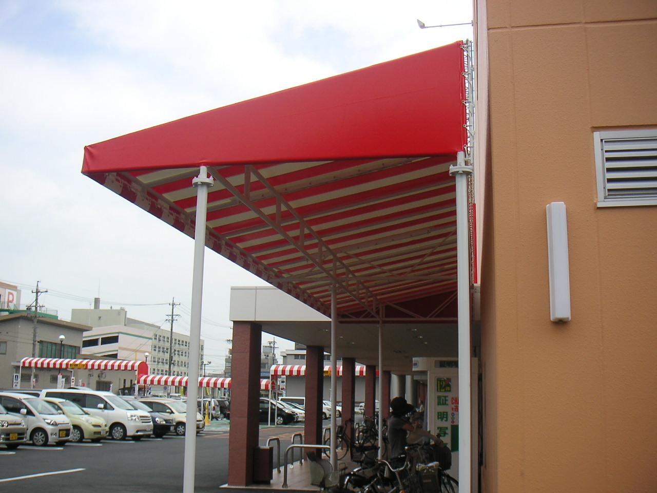 駐車場・駐輪場テントの事例<