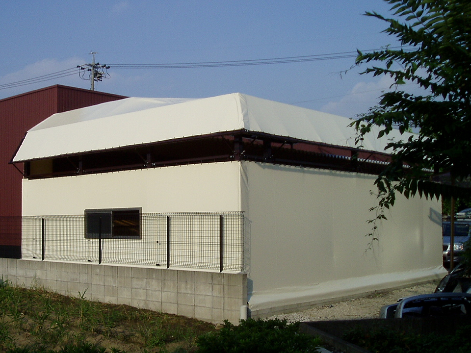 テント倉庫の制作事例